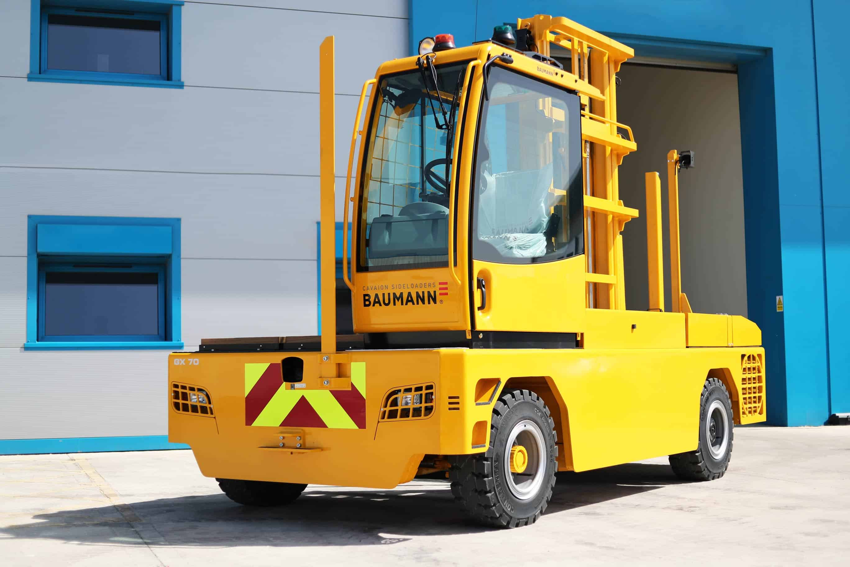 Baumann GX side loader forklift