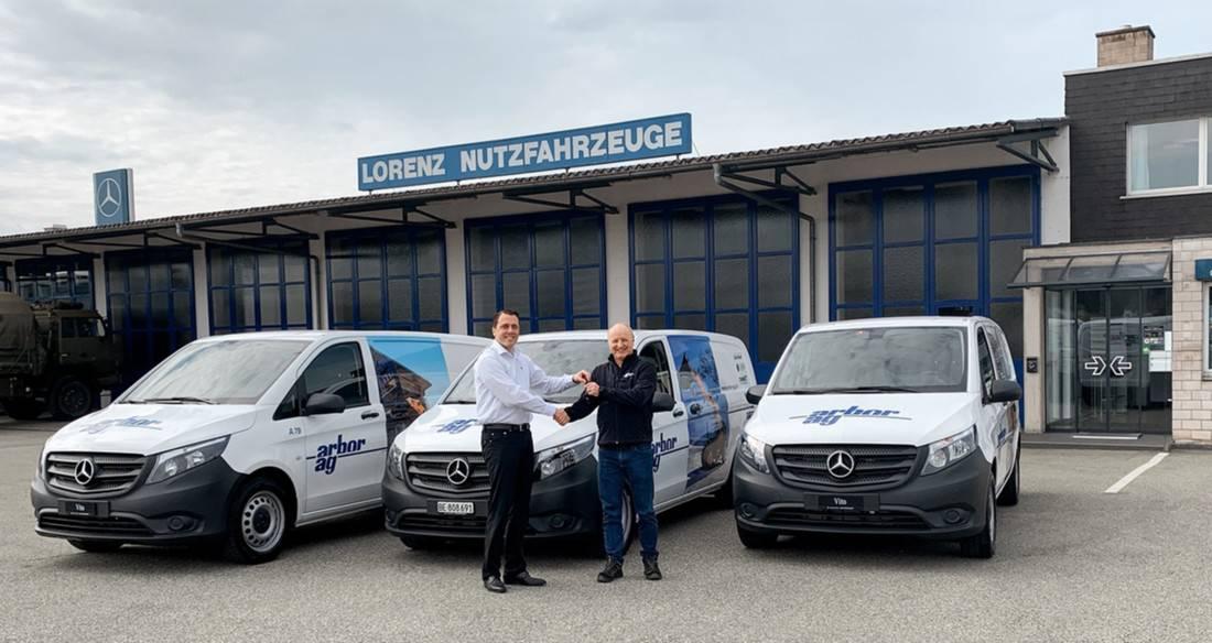 Arbor AG erneuert seine Flotte der Kundendienstfahrzeuge